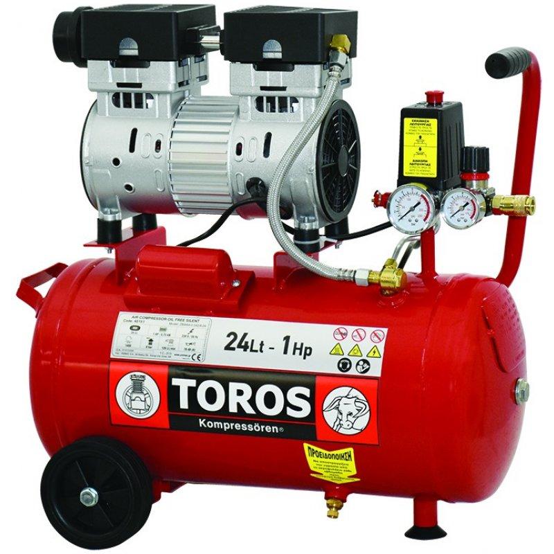 Αεροσυμπιεστής μονομπλόκ 1.0Hp Oil Free/Silent TOROS #40151